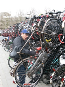 Cycle parking like only the Dutch know - for now.